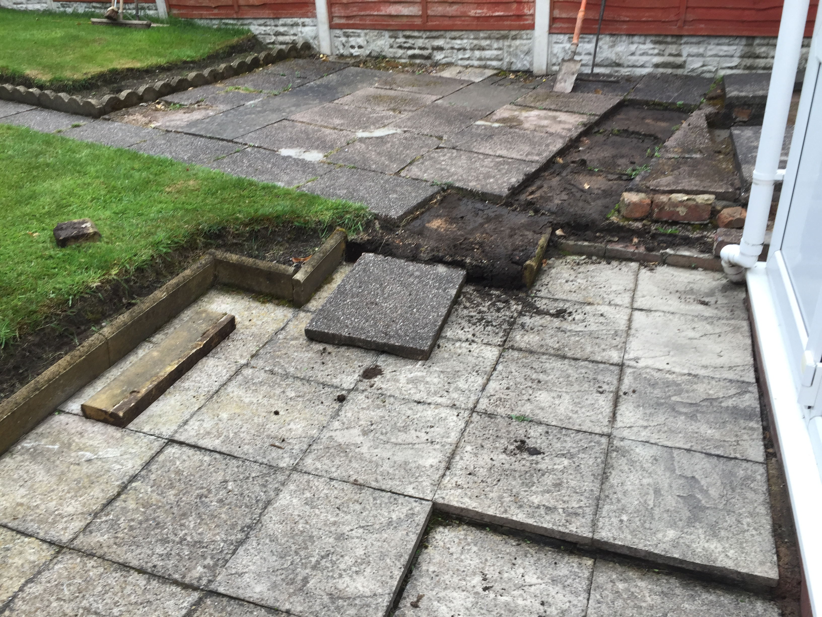 New Patio Redditch Before ...